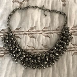 4/$15 Silver beaded chain necklace